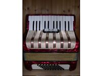 Hohner Student V, 48 Bass, 26 Treble Keys, Piano Accordion.