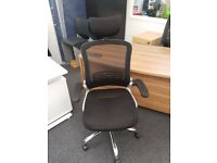 Black Mesh Fabric Back Task Office Desk Chair Home Study