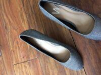 Wallis silver shoes