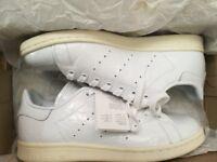 New Women's White Adidas Stan Smith Size 6.5