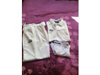 Slazenger cricket trouser, shirt and protective pants age 9-10y in VGC
