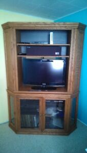 corner wall unit/ media stand, best offer takes it