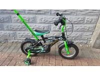 Boys 12 inch Bicycle with detachable steering handle