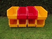 8 x Linbin Stacking Storage Boxes 8 x 9 x 17.5 inch. Excellent Clean Condition