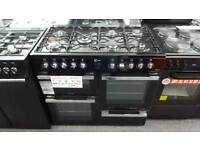 New graded 100cm dual fuel range cooker with 12 months guarantee