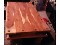 Mexican pine coffee table