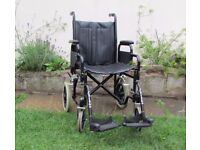 Enigma Lightweight Attendant-Propelled Foldable Wheelchair, Wheeltech in usable condition