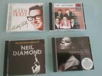 BUDDY HOLLY,GARY LEWIS,NEIL DIAMOND,DIANA ROSS CDs