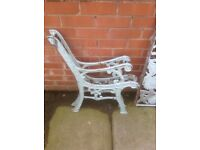 STRONG CAST IRON BENCH