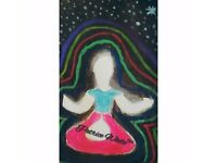 "(3rd Eye Spiritual Art) ""Cosmic Meditation (Female)"" Greetings Card! (1 available))"