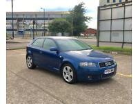 2005 Audi A3 2.0 TDI SPORT 140 BHP– Blue, 3 Door, Diesel, NEW 12 MONTHS MOT, Excellent Condition