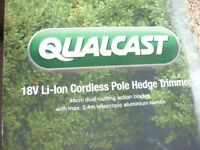 Qualcast New 18v Cordless Pole Hedge Trimmer Boxed + Manual