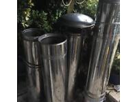 """8"""" stainless steel twin wall flue"""