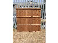 6' x 6' 4 rail close board fence panels