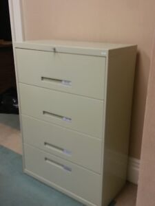 4 drawer lockable lateral office filing cabinet