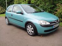 2003 Vauxhall Corsa Elegence 3 dr 1.4 Auto . Very low mileage loads of service records, MOT March 18