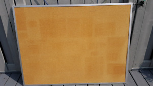 3 foot x 5 foot cork board with aluminum frame
