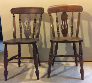 Pair of French Cottage chairs