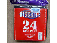 CARBOOTERS! BOX OF 40 BRAND NEW CD STORAGE CARRIERS / WALLETS, 24 DISC CAPACITY