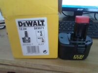 dewalt 12v battery boxed and unused
