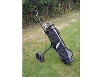 Golf set & trolley