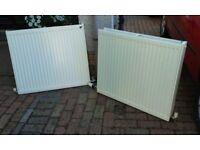 Two radiators 800 x 700, one single, one double
