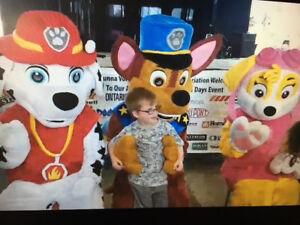 Paw Patrol Mascot Rental - Marshall, Chase, Skye & Rubble
