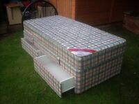 3FT SINGLE 2 DRAWER DIVAN BED WITH HEADBOARD