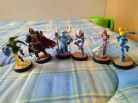 Amiibo: Link, Zelda, Ganondorf, Sheik, Shovel Knight, Samus