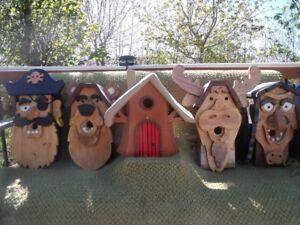 HANDCRAFTED DECORATIVE BIRDHOUSES - 5 DIFFERENT DESIGNS