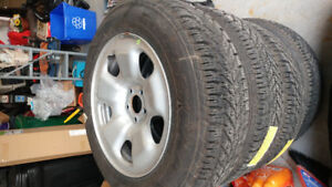 4- goodyear ultra grip winter with rims..jeep cherokee