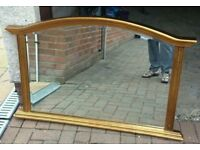 Beautiful large mirror with gold paint frame