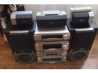 Technics stereo with speakers