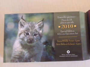 2010 SPECIAL EDITION $2 BABY LYNX COIN SET