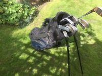Golf bag containing 10 irons