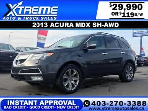 2013 Acura MDX SH-AWD  $119 bi-weekly APPLY NOW DRIVE NOW