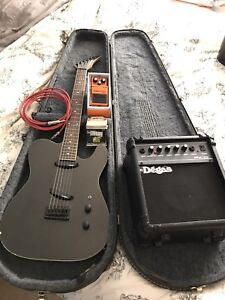 Electric guitar, amp, distortion pedal and more!!