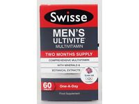 Swisse Ultivite mens Multivitamin and minerals 60 Tablets one-a-day supplements