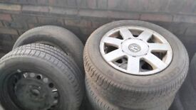 IN GOOD CONDITION 7 ARMS USED PASSAT ALLOY RIM