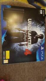 PS4 uncharted 4 bundle 500gb slimline. New
