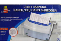 MANUAL PAPER SHREDDER ------- £2