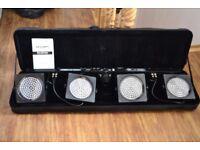 Stage lighting system, portable DMX led lighting