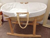 Moses basket with stand and ikea baby bath