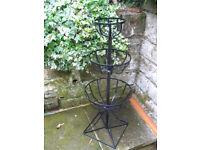 Black Metal Garden Plantstand 3 Tier