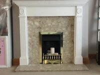 Gas Fire, fire surround and Marble Hearth