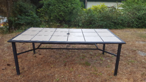 """cast aluminum table with removable tiles.  40 """" by 76"""""""