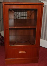 This mahogany stereo cabinet has no marks and in excellent condition.
