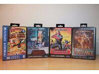 4x Collectable Sega Mega Drive Games Shadow Dancer Shinobi 3 Blades of Vengeance