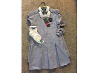 Girls age 4-5 school dresses and socks