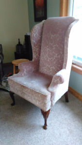 2 High back French Provincial chairs
